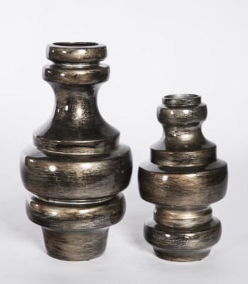 Large Turned Vase in Iron Ore