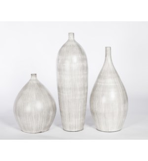 Large Vase in Grey Streak