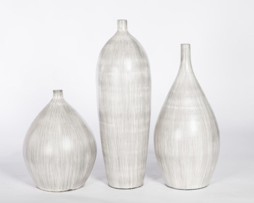 Large Vase in Grey Streak