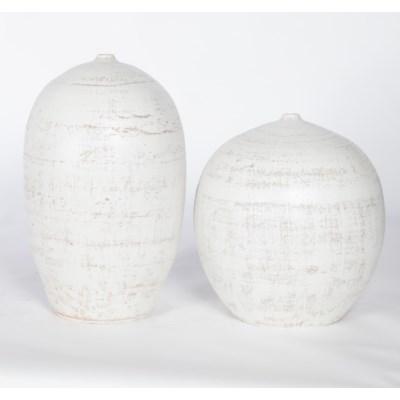 Large Vase in Vintage Blanco