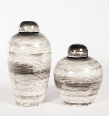 Large urn with Lid in Swirling Storm