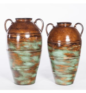 Large Jar in Autumn Teal