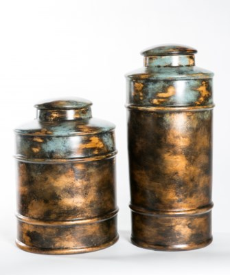 Large Tea Canister in Shallow Waters