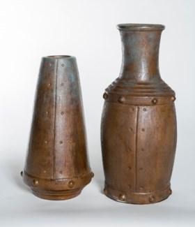 Large Industrial Vase in Aqua Rust
