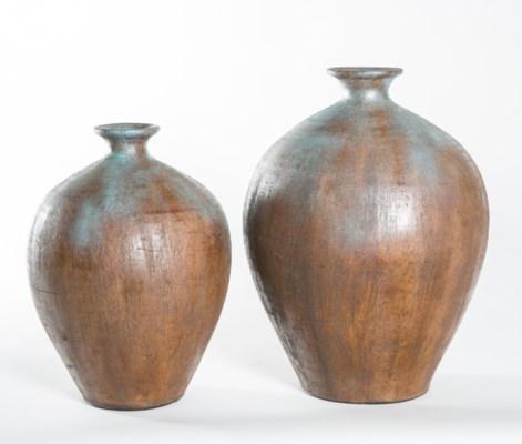 Large Pot in Aqua Rust