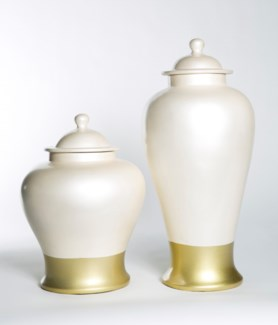 Large Ginger Jar in Golden Pearl