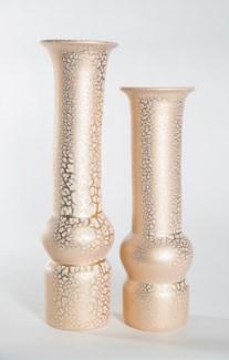Large Table Vase in Golden Glacier