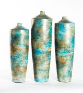 Large Tibor Vase in Earthen Indigo