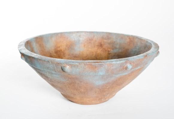 Industrial Bowl in Aqua Rust