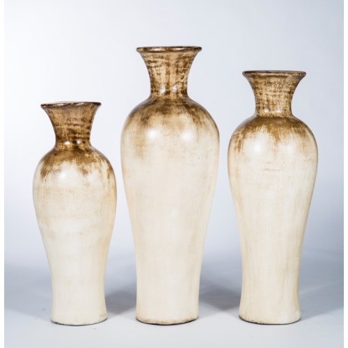Large Fluted Tibor Vase in Alpine Frost Finish