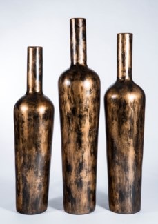 Large Floor Bottle in Copperhead Finish