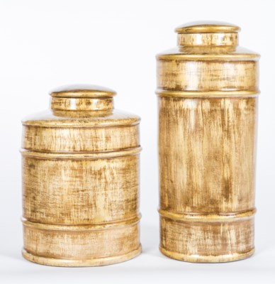 Medium Tea Canister in Almond Bean Finish