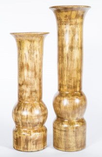 Large Table Vase in Almond Bean Finish