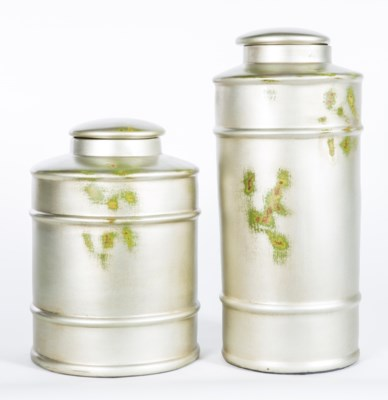 Medium Tea Canister in Silver Birch Finish