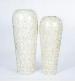 Large Floor Vase in Travertine Finish