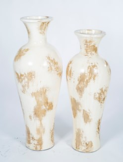 Large Tibor Floor Vase in Rubbed Alabaster Finish