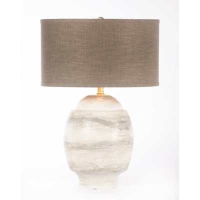 """""""Maria Table Lamp in Twister w/ Grey/Gold 18"""""""" Drum Shade"""""""