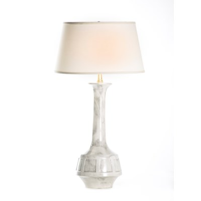 Bella Table Lamp in Patagonia with White/White Taper Shade