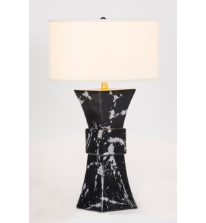 "Cooper Table Lamp in Phantom Finish with 18"" Drum Shade in White/White"