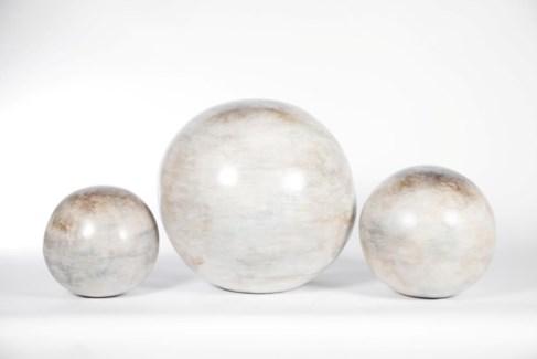 Large Floor Sphere in Homestead White