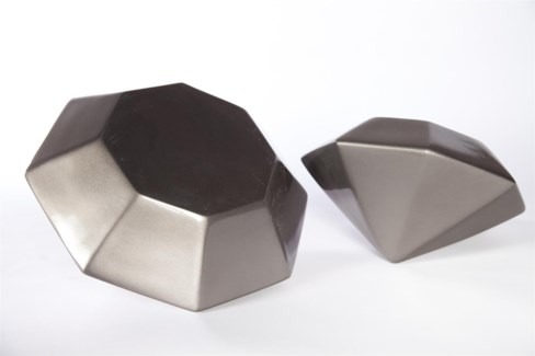 Large Diamond in Gun Metal Finish