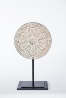 Large Architectural Sculpture on Stand in Artifact Finish