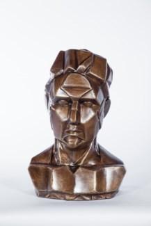Bust Sculpture in Saffron Finish