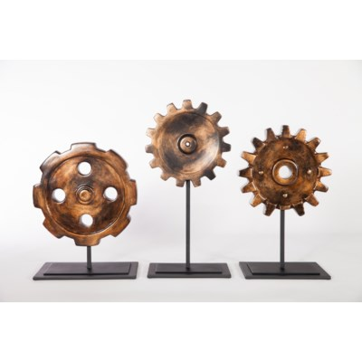 Cog  Sculpture w/ Stand in Copperhead Finish