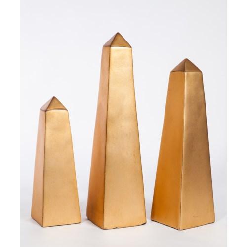 Large Obelisk in Aged Gold