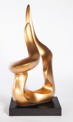 Sculpture with Base in Aged Gold