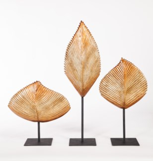 Large Leaf Sculpture w/ Stand in Bedouin Trail