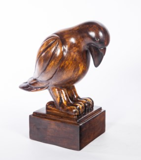 Bird Sculpture in Walnut