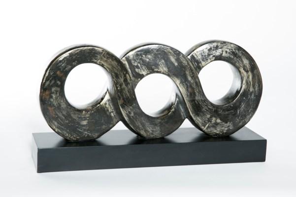 Terracotta No. 8 (Infinity) Sculpture in Coal
