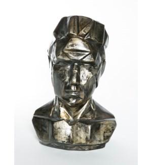 Bust Sculpture in Coal