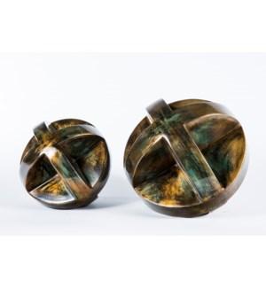 Large Floor X Sphere in Coal Finish