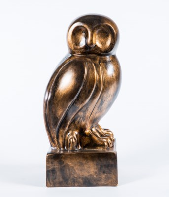 Owl Sculpture  in Copperhead Finish