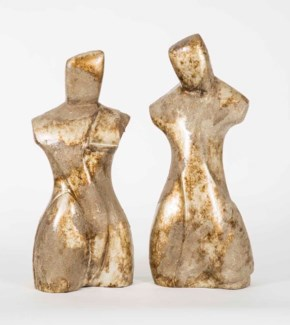 Woman Sculpture in Gold Nugget Finish