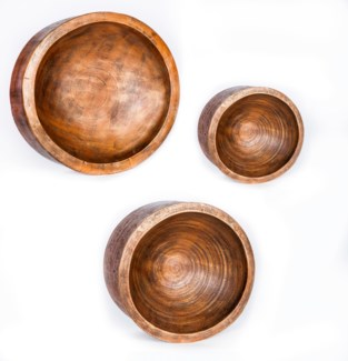 Medium Wall Bowl in Driftwood Finish