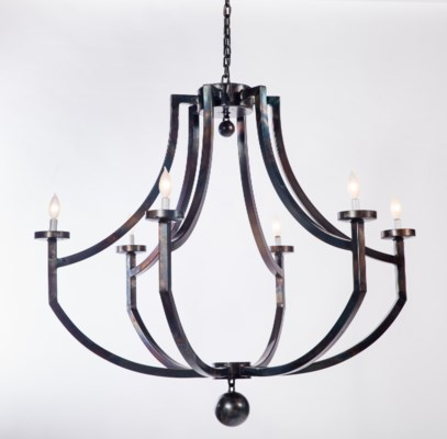 Kennedy Iron Chandelier with 6 Lights