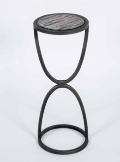 Easton Accent Table in Bronze Finish with Shelf in Graphite Finish