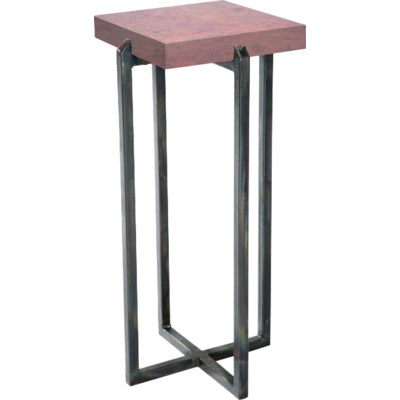 Square Accent Table With Natural Hammered Copper Top Accent Tables - Copper top accent table