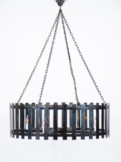 Sylvester Flat Strap Chandelier with 8 Lights and 3 Feet of Chain