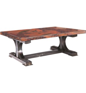 Winston Coctail Table with Hammered Copper Top