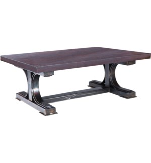 Winston Coctail Table with Dark Brown Hammered Copper Top