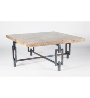 Elliot Square Cocktail Table with Square Marble Top