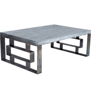 William Cocktail Table with Hammered Zinc Top