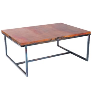 Foster Cocktail Table with Hammered Copper Top