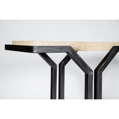 Mason Console Table with Marble Top