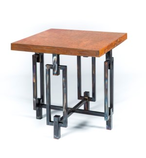 Elliot Side Table with Natural Hammered Copper Top