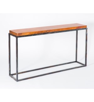 Brandon Console Table with Natural Hammered Copper Top